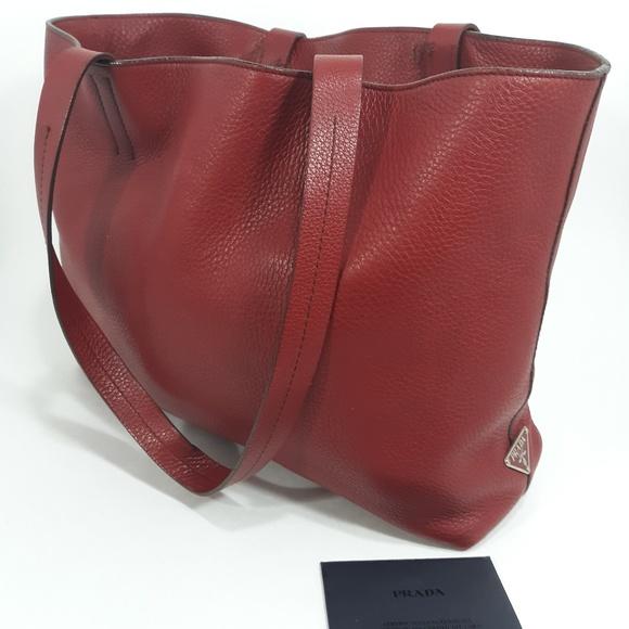 3e1c591f3d77 PRADA Semitrocola Vitello Daino Shopping Tote Bag.  M_5c143a9e0cb5aa0e167e13bd